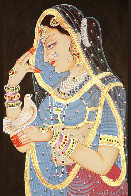 7-mughal-paintings-woman