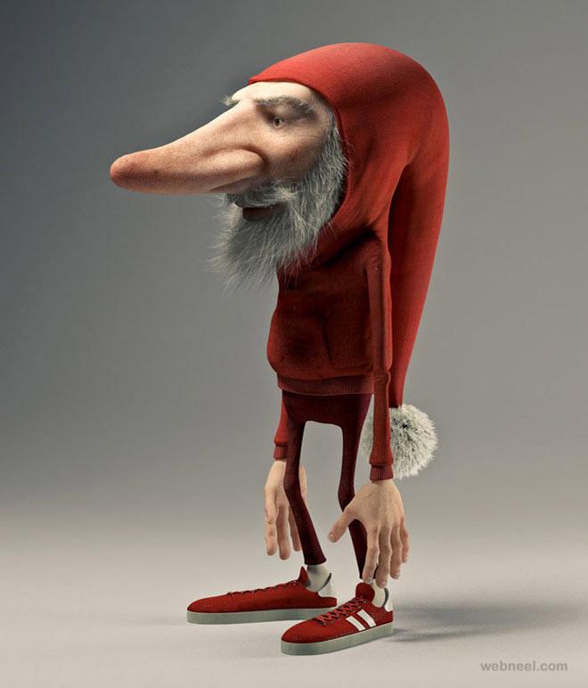 21-funny-santa-3d-cartoon-character-Joel-Bernt