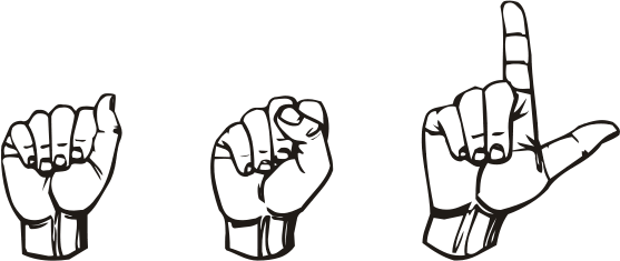 i use American Sign Language (ASL)